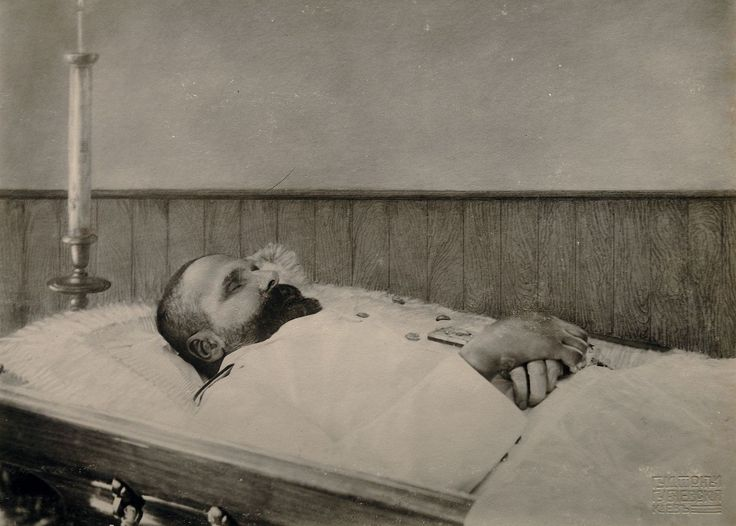 Prime Minister Stolypin on his deathbed after assassination - 6 Sept 1911.