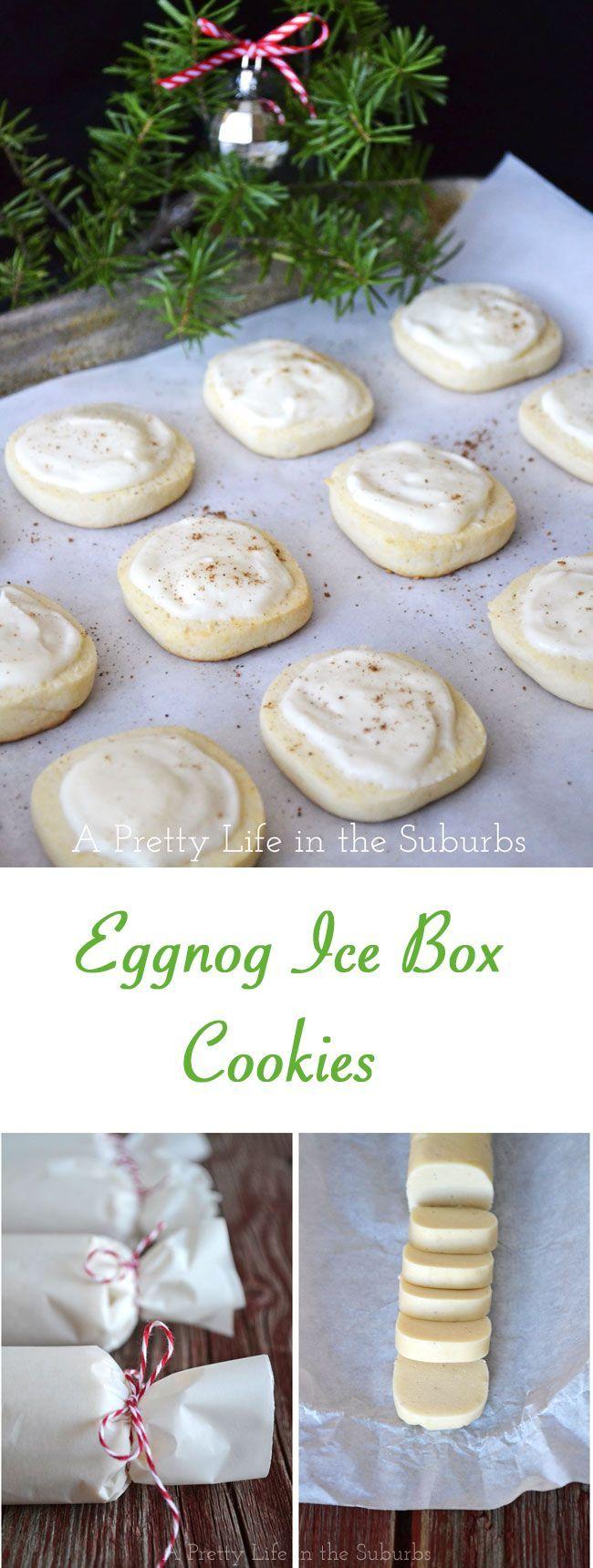 Eggnog Ice Box Cookies