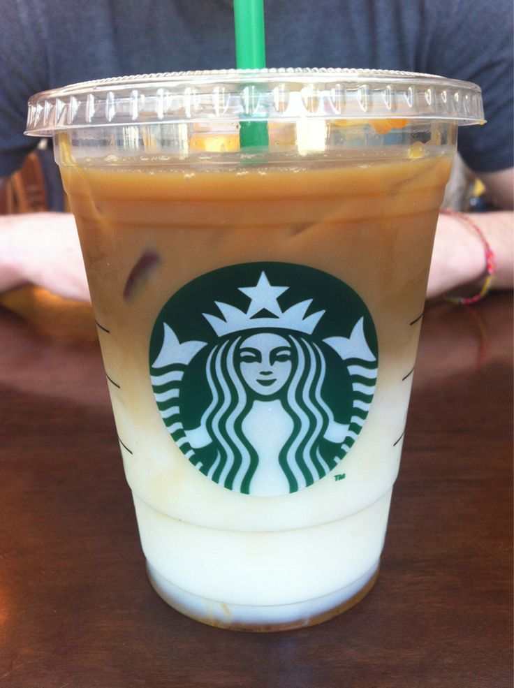 my favorite starbucks drink! Iced caramel macchiato.