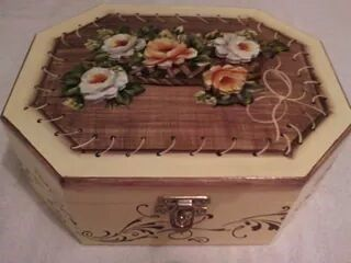 caixa decorativa - Clube de Artesanato