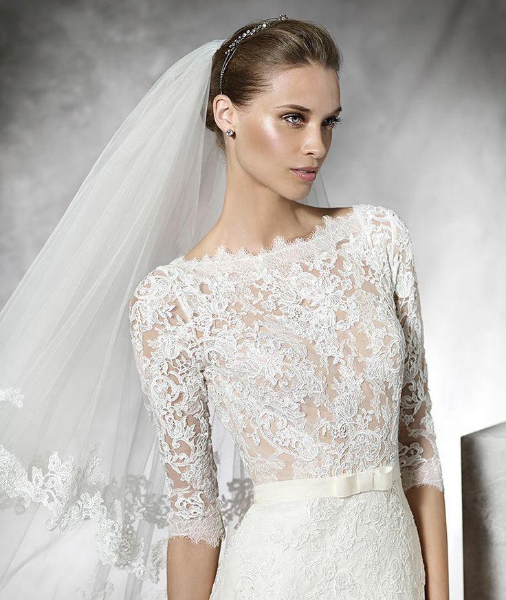 Pronovias > TIMY - Mermaid wedding dress with long sleeves.