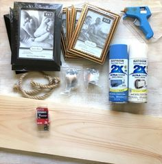 A mom lays out cheap photo frames & everyone's going to copy her idea