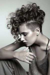 Shaved Hairstyles celebrity half shaved hairstyle kelly osbourne 20 Half Shaved Hairstyles For Women