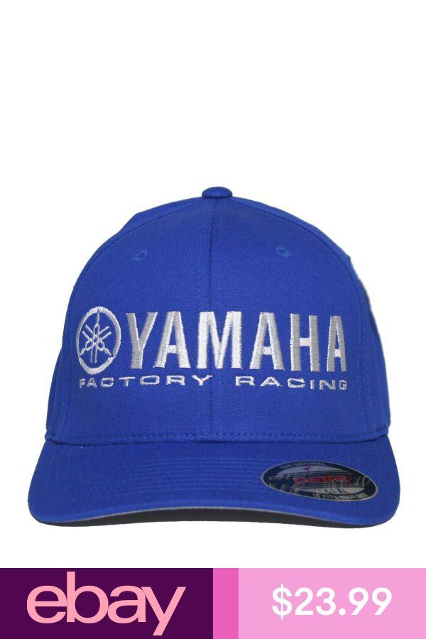 YAMAHA FACTORY RACING HAT FLEXFIT CURVED BILL CAP BLUE YZF YFZ RI R6