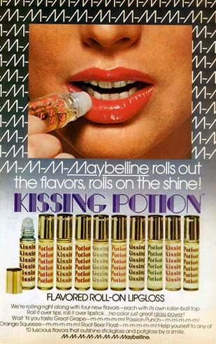 Retronaut - Maybelline Kissing Potion, 1970s Aaaarghhh! I was trying to remember who made these. They were so sticky!