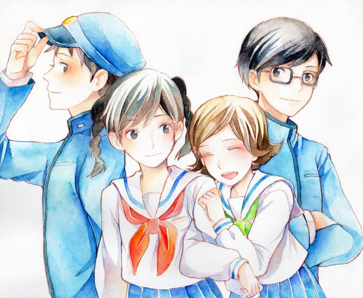 From up on Poppy Hill / Kokuriko-zaka kara - Shun, Umi, Sora and Shiro / Shirou by hibiki (http://www.pixiv.net/member.php?id=508899)