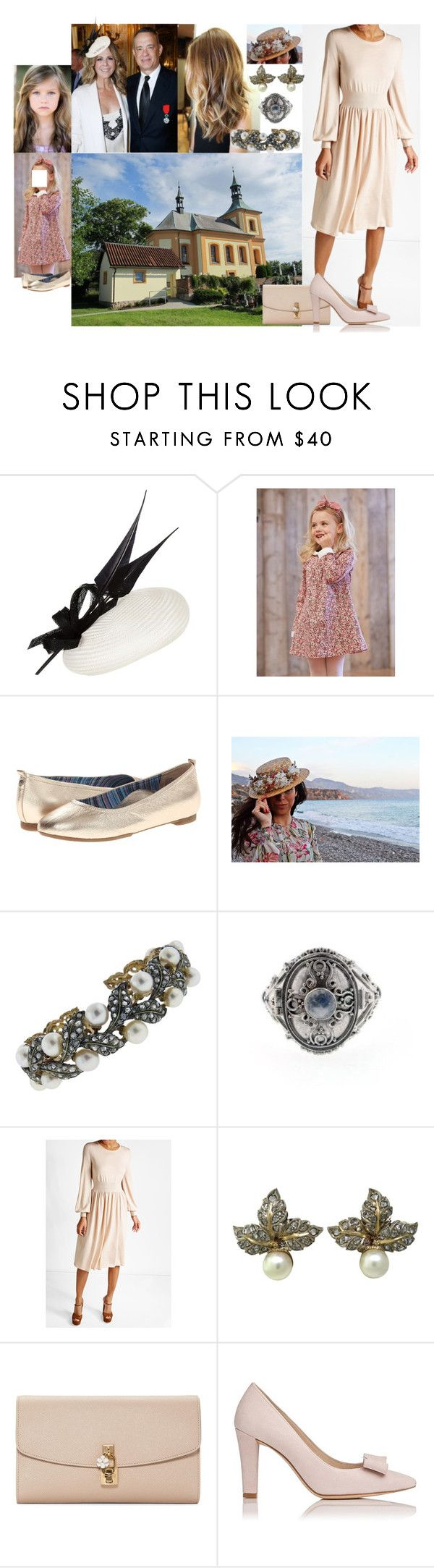 """Attending the Sunday church service together with Amy and her parents at the Abrabay Church"" by damen-i-min-fantasi ❤ liked on Polyvore featuring Jacques Vert, Aetrex, Buccellati and Dolce&Gabbana"