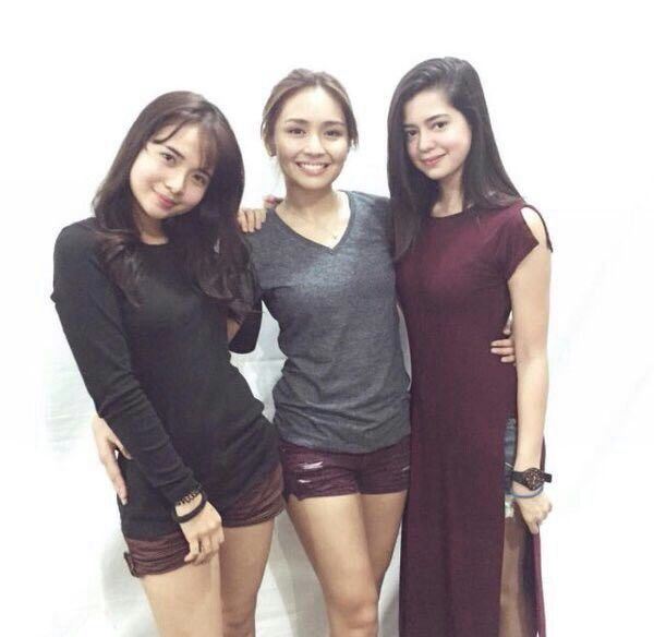 This is the lovely Kristel Fulgar, the pretty Kathryn Bernardo, and the lovely Sue Ramirez smiling for the camera for a smart casual photo shoot before the taping of Pangako Sa 'Yo. Indeed, Kristel, Kathryn, and Sue are another of my favourite Kapamilyas, and they're amazing Star Magic talents. #KathrynBernardo #TeenQueen #KristelFulgar #SueRamirez #PangakoSaYo