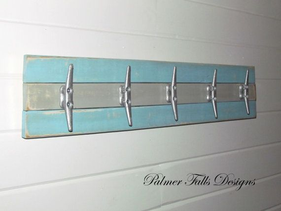 Great Boat Cleat Rack / Towel Rack / Nautical Coat Rack / Nautical Nursery Decor/  Nautical Bathroom Decor / Lake House Decor / Beach Decor / Pool By ...