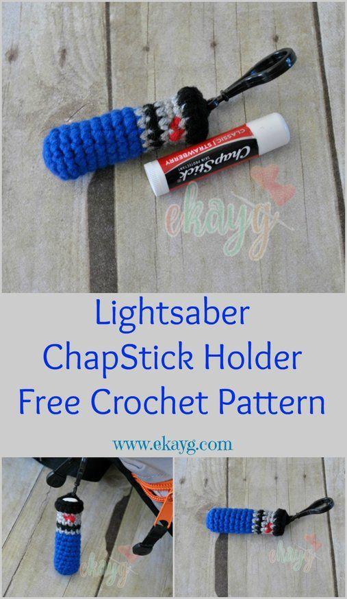Star Wars Day, Lightsaber ChapStick Holder Free Crochet Pattern