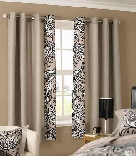 Curtain with border