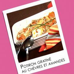 Potiron gratiné au fromage de chèvre et aux amandes | Recette Soignon