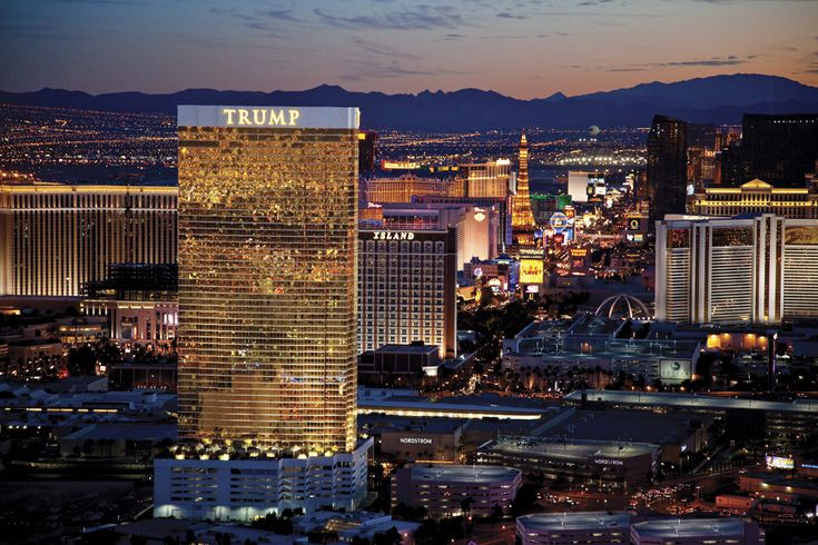 On the left Trump International. Best room ever. Stayed in the suite on the 51st floor with Strip View.