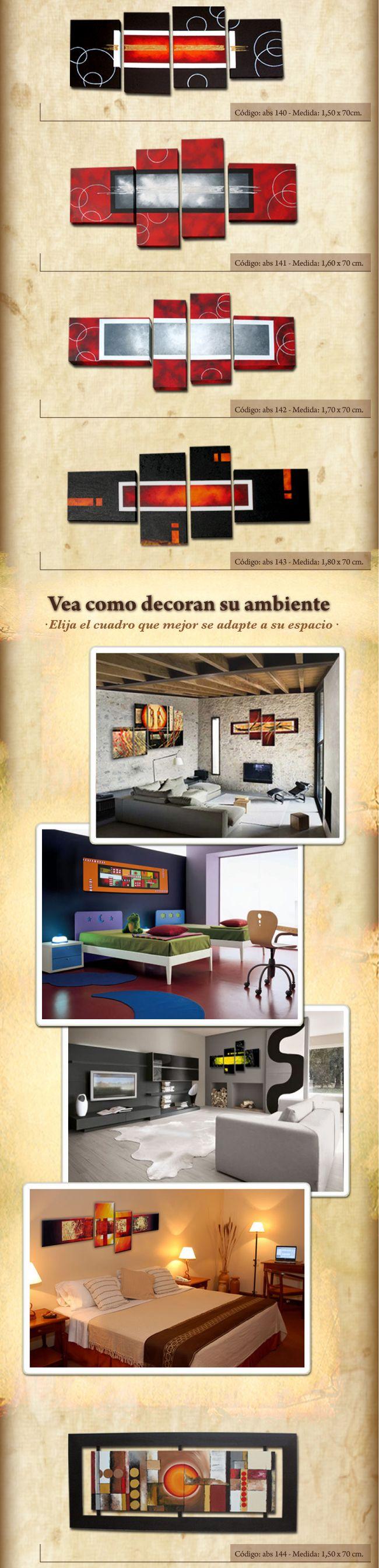 Cuadros Modernos Tripticos Decorativos Abstractos Roggero - $ 820,00 en MercadoLibre