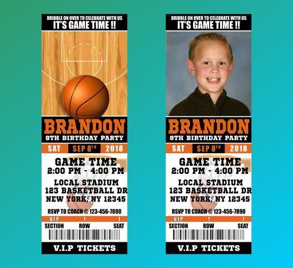 basketball invitations basketball ticket invitation basketball