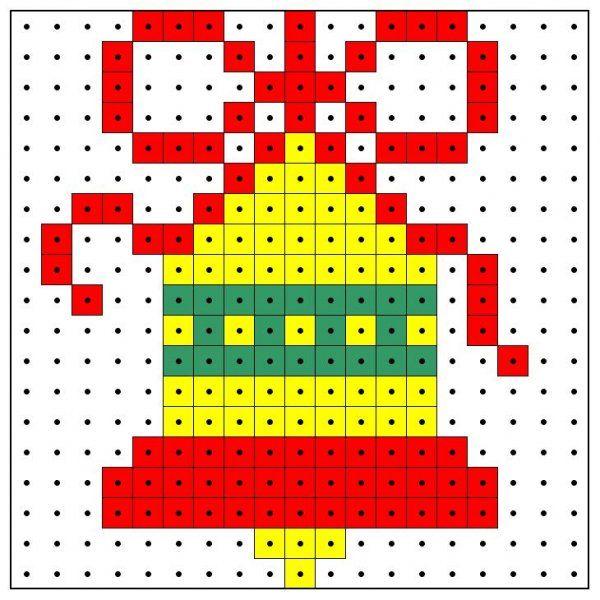 Christmas bell perler bead pattern