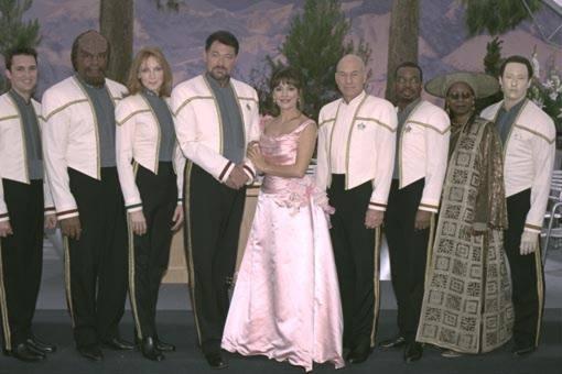 First Officer William T. Riker & Counselor Deanna Troi's wedding picture from Star Trek: Nemesis (2002).