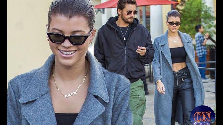 Sofia Richie, 19, shows off toned stomach on sushi date with Scott Disick