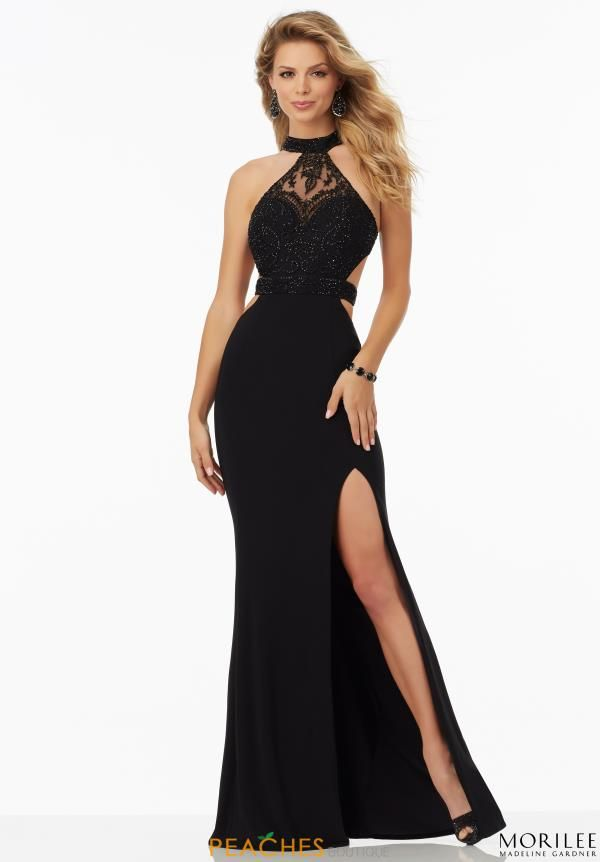 Mori Lee Open Back Fitted Dress 99097