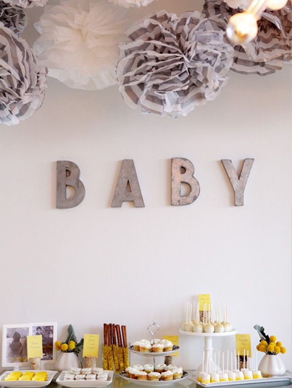 modern baby shower