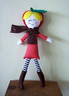 Cathy Applehead Handmade Doll Pattern & Tutorial