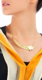 Single fretwork necklace