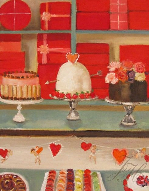 Love Spells, oil on canvas -Janet Hill: