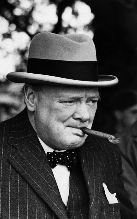 """When Hitler dominated the Continent, staring across the English Channel, Winston Churchill stood alone and stared back. Some respectable people in Britain would have cut a deal and let Hitler rule much of Europe.""  Franklin and Winston by Jon Meacham"