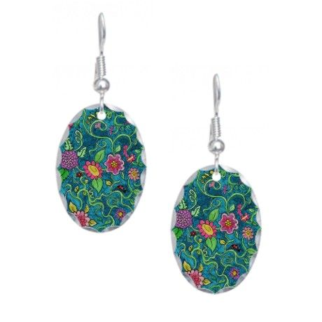 earrings my from my floral watercolor illustration