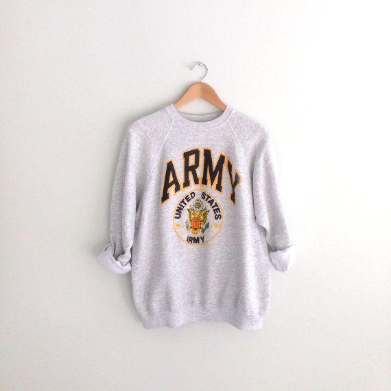 80s vintage Army sweatshirt by louiseandco on Etsy, $30.00