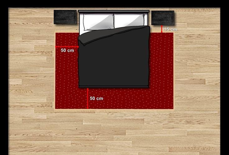 Medidas e posicionamento de tapete para quarto de casal - 1