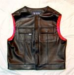 Death Squad Leather Vest Red Linning *DEATH SQUAD*