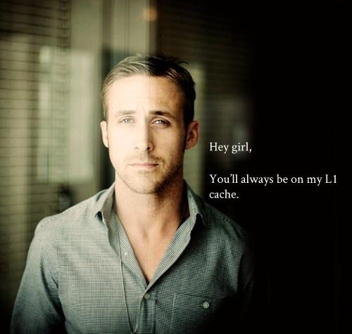 Oh Ryan Gosling, so tech literate.