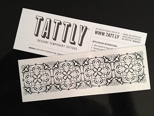 Marian's design for a temporary tattoo for SwissMiss.