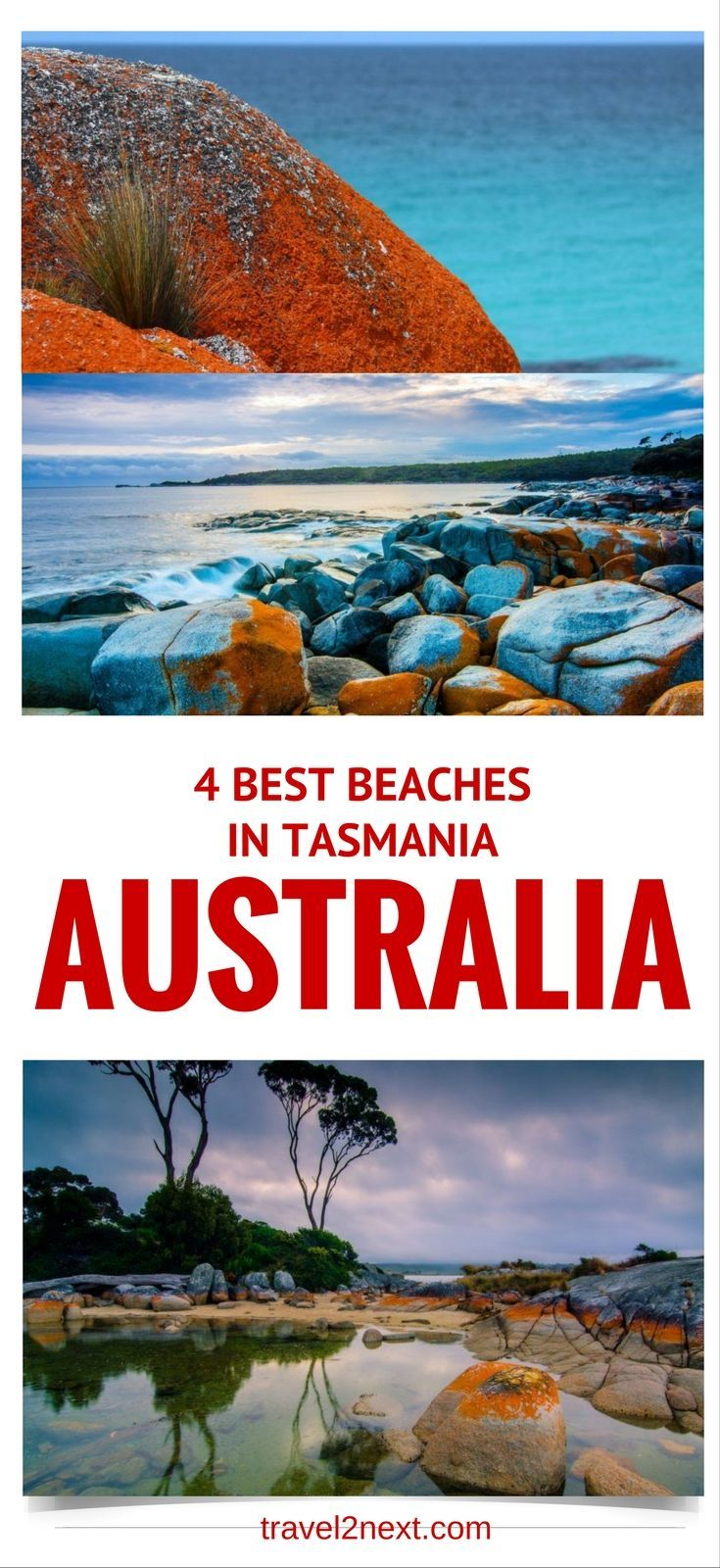 4 best beaches in Tasmania. Looking for a fabulous beach? In Tasmania beaches are wild and beautiful.