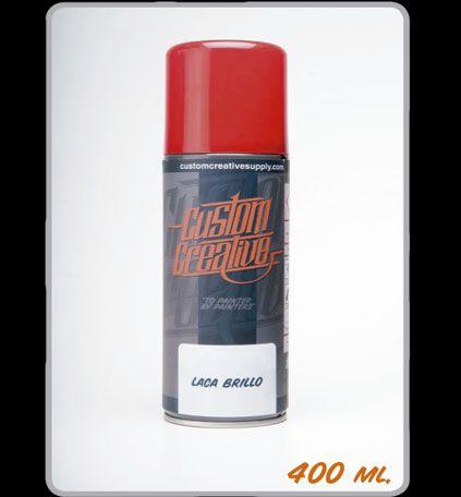 Barniz Acrilico Brillo en spray de Custom Creative. Clear Acrylic Glosh