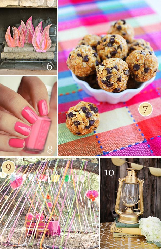 """Glamping"" party ideas. @Allison W I fully expect s'mores martinis and a fake glitter fire!"