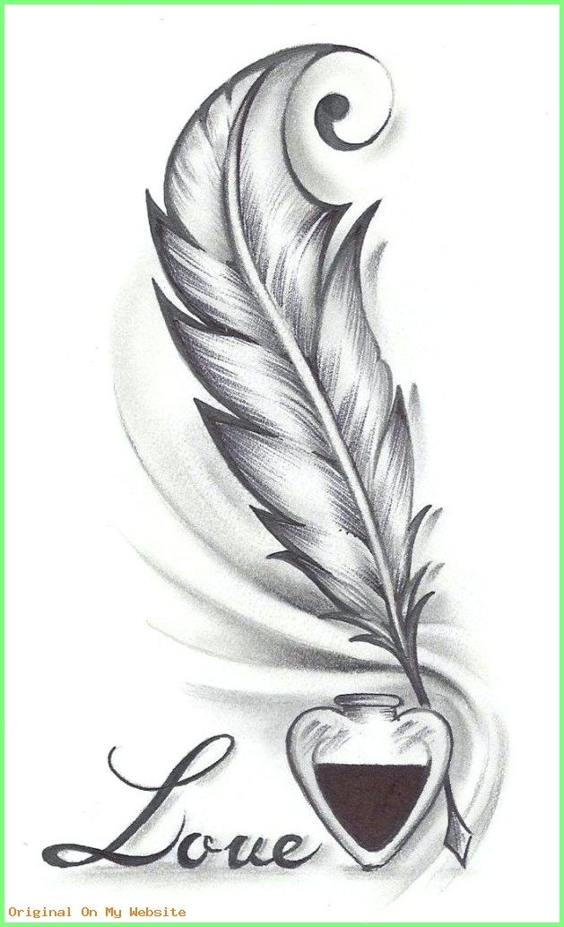 Zeichnungen Einfach Beautiful Simple Drawings Love 1000 Ideas About Feather Drawing On Pint Feather Tattoo Drawing Feather Drawing Feather Tattoo Design