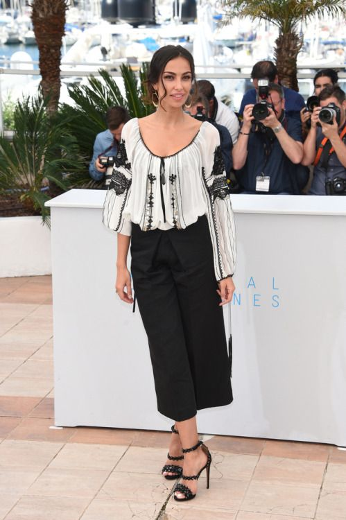 Mădălina Ghenea in traditional romanian blouse at The Cannes Film Festival 2015 - Day 8 - Youth Photocall
