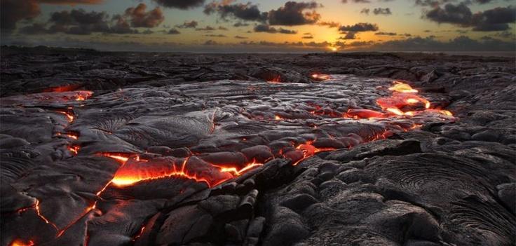 Molten Lava Flow, Hawaii