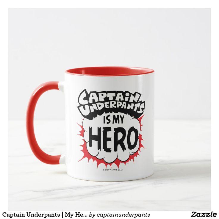 Captain Underpants   My Hero. Regalos, Gifts. Producto disponible en tienda Zazzle. Tazón, desayuno, té, café. Product available in Zazzle store. Bowl, breakfast, tea, coffee. #taza #mug
