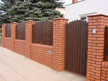 234 best block wall fence images on pinterest for Decorative wall fence