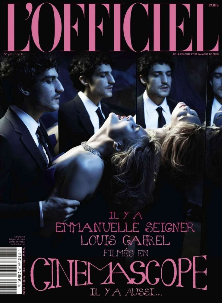 COVER  ObsessionFrench actor Louis Garrel joins actress Emmanuelle Seigner for this months
