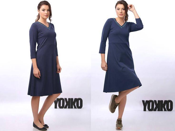 SMILE dress YOKKO |fall16  #nice #casual #dress #blue #fall16 #yokko #fashion
