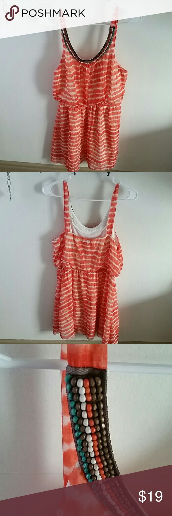 Coral Sundress Light and perfect for the upcoming warm weather! It hits me at about the knee and I'm 5'3. Dresses Midi