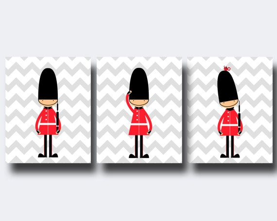 Toy Soldiers Nursery Wall Print, English Guards Nursery Print, Baby Boy Nursery Wall Art Print and Bedroom Decor N292,293.294