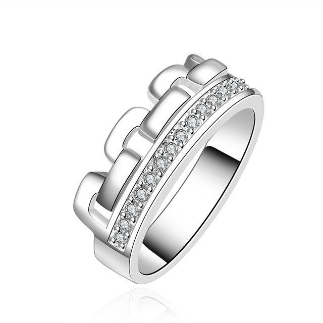 Дизайн моды Стерлингового Серебра 925 Женщины Finger Fing с Циркон Уникальные Персонализированные Ювелирные Изделия Подарок Оптовой Цены Высокого Качества