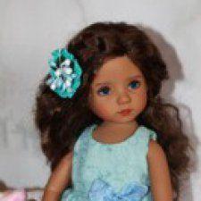 Комплект для Little Darling, куколок Dianna Effner, рост 33 см. Комплект из платьица, панталончиков, босоножечек. Использованы ткани — шитьё, хлопок