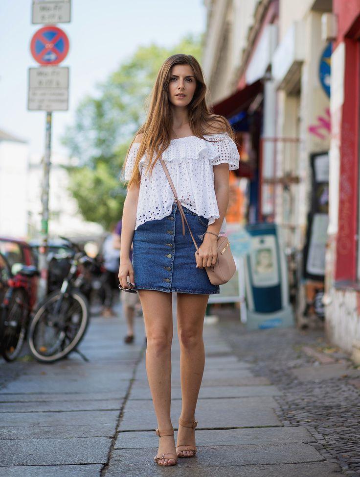 Street Style Trend: Schulterfreie Tops und Kleider