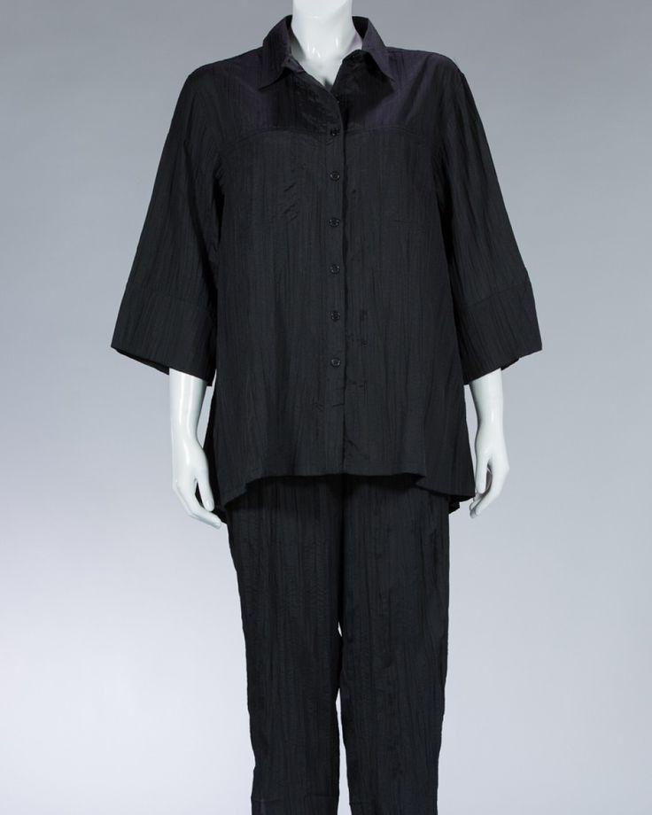 Animale beautiful shirt plain color - black #WomenSkirt #Dress #SummerFashion #Animale #WomenWear #WomenFashion #MotifClothes #LightClothes